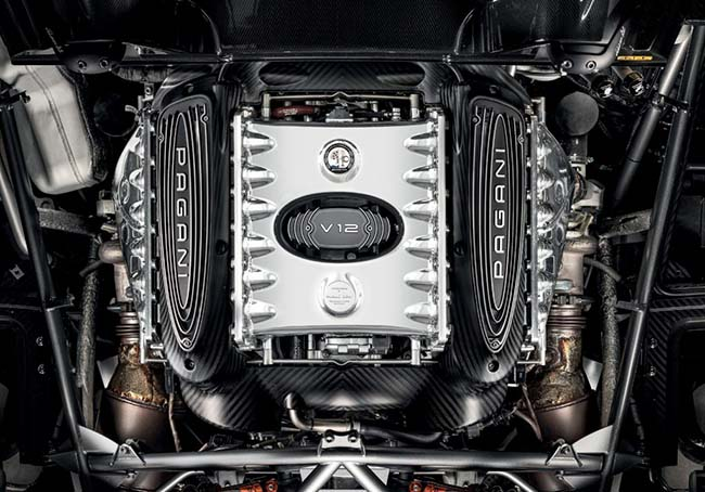 Pagani Huayra Roadster BC V12 engine
