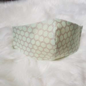 Deluxe Limited Edition Gold Honeycomb face mask