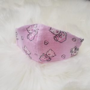 Kitty Cat in Pink Children's Face Mask