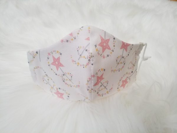Children's Filter Mask with Pocket-magic fairy wand design