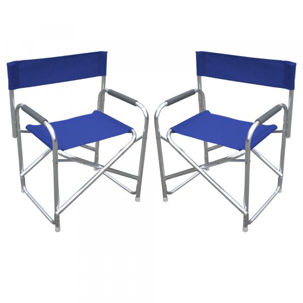 Sedia da esterno in resina effetto legno con poltrona da giardino con braccioli bianca e marrone mettiti comodo e rilassati su questa sedia da pranzo. Set 2 Sedie Da Regista In Alluminio E Textline Per Campeggio E Spiaggia Blu