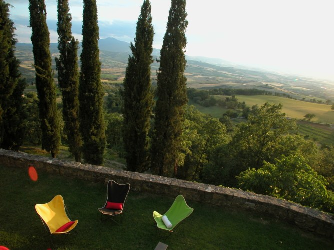 the majestic Orcia valley, near Siena