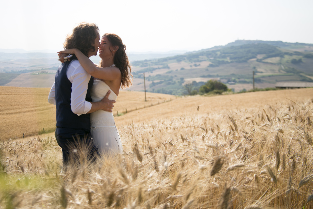 Tuscan farmhouse wedding