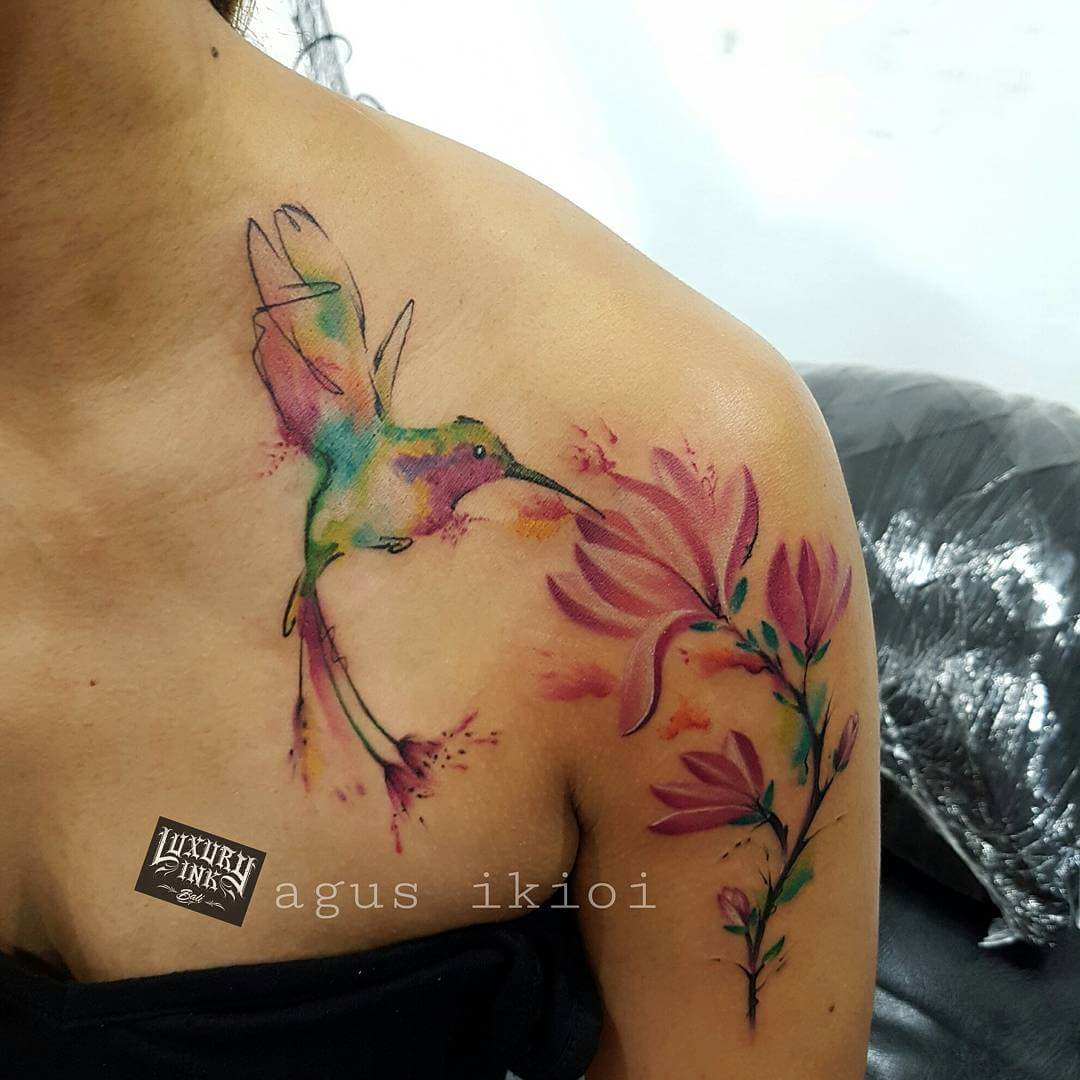 Luxury Ink Bali Tattoo Gallery Watercolor style102