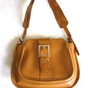 Browns Couture Mustard Leather Shoulder Bag