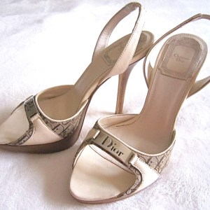Christian Dior Platform Slingback Signature Sandals