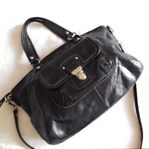 Coach Black Leather Kristin Handbag