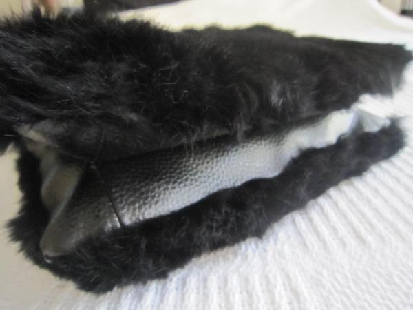 Di Piu Fur & Leather Messenger Bag-3
