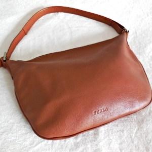 Furla Brown Leather Hobo Bag