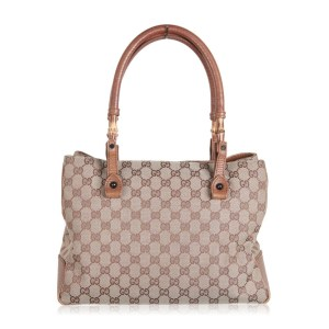 Gucci Bamboo Canvas Tote Bag