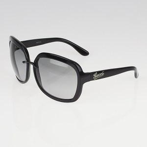 Gucci Black Frame Gradient Tint Sunglasses