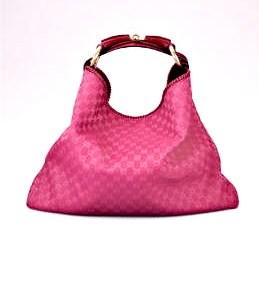Gucci Fuchsia Horsebit Large Hobo Bag