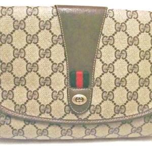 Gucci Supreme Vintage Monogram Clutch
