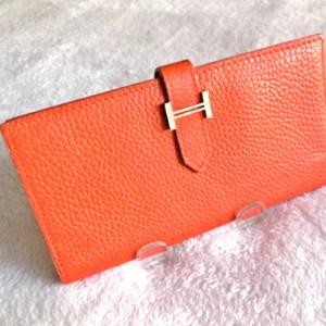 Hermes Orange Epsom Bearn H-Wallet