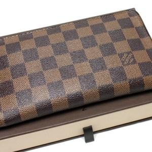 Louis Vuitton Damier Ebene Porte Monnaie Zip Wallet