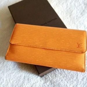 Louis Vuitton Mandarin Epi Porte Tresor International Trifold Wallet
