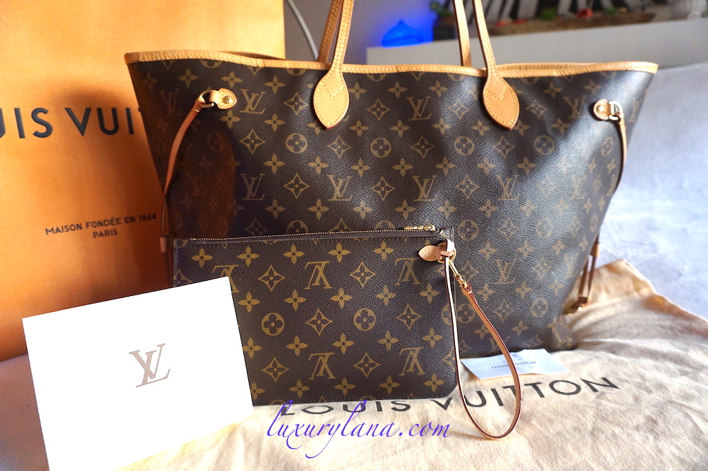 Louis Vuitton Neverfull GM Tote Bag With Clutch - Luxurylana Boutique 5f341b7f6dedc