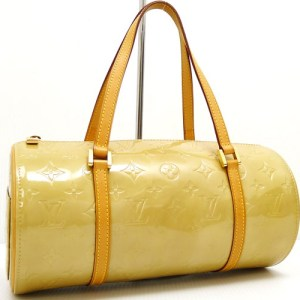 Louis Vuitton Papillon 30 Yellow Vernis Bag