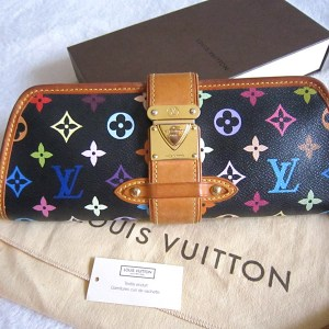 0a3b613971cb Louis Vuitton Shirley White Multicolour Clutch With Long Strap ...