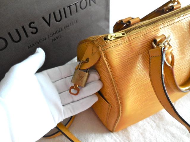 Louis Vuitton Tassil Speedy 25 Yellow Epi Leather Handbag. Home ... fe12fdfd73e47