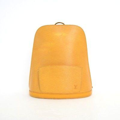 Louis Vuitton Yellow Epi Leather Gobelin Backpack