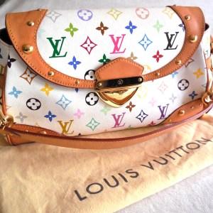 Louis Vuitton x Takashi Murakami White Multicolor Beverly MM Handbag