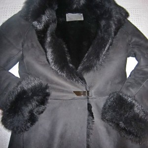 Luxury Black Shearling & Fur Jacket