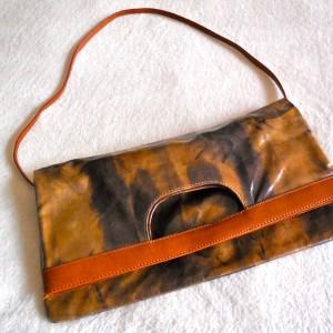 Maurizio Taiuti Leather Floral Crossbody Bag-3