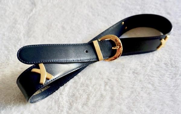 Paloma Picasso Vintage Navy Leather Belt
