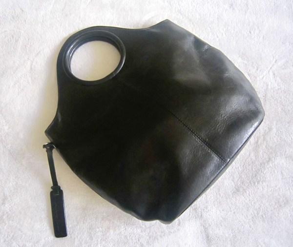 Sabrina Scala Black Leather Bag