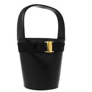 Salvatore Ferragamo Black Vara Bow Handbag