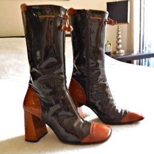 Stephanie De Raucourt Patent Leather Boots