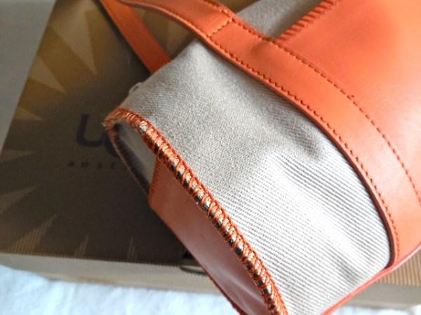 UGG Orange & Sand Papillon Handbag-3