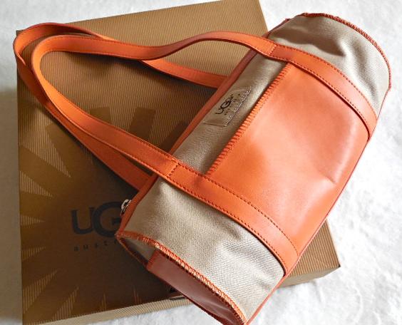 UGG Orange & Sand Papillon Handbag