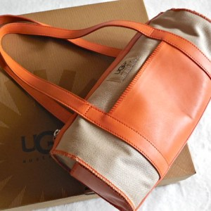 UGG Orange & Sand Papillon Handbag