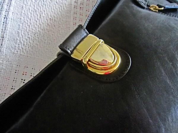Valentina Black Leather Shoulder Bag-2