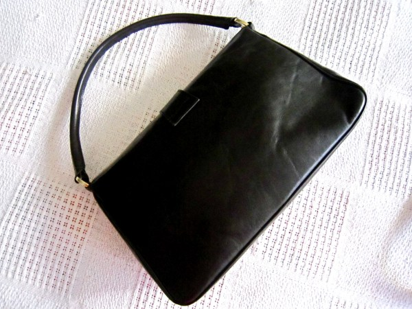 Valentina Black Leather Shoulder Bag-3