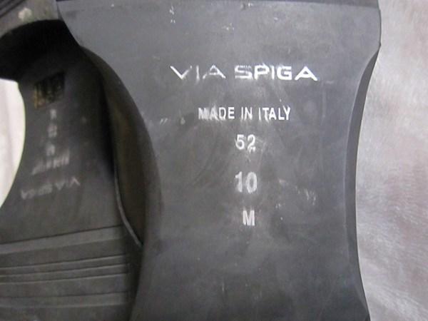 Via Spiga Men's Black Leather Oxford Shoes-5