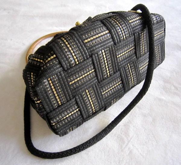 Vintage Fiona Black Shoulder Bag-4