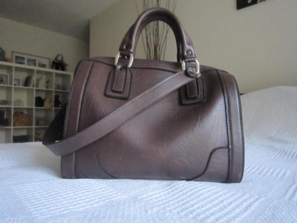 Vintage Large Brown Boston Bag
