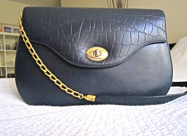 Vintage Navy Lambskin Classic Jumbo 2.55 Chain Bag