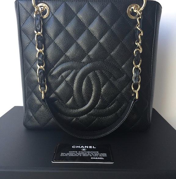 233d9b3139e4 Chanel PST Black Caviar Petit Shopping Tote Bag - Luxurylana ...
