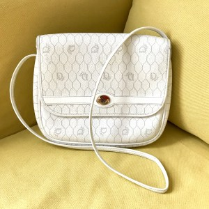 Christian Dior Ivory Cross Body Handbag