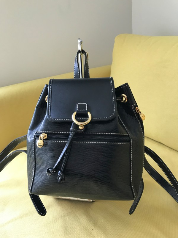 Lancel Paris Black Leather Elsa Mini Backpack