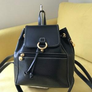 Lancel Paris Black Leather Elsa Mini Backpack