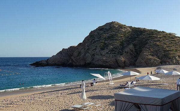 Santa MSanta Maria beach where you can swim in the Los Cabos tourist corridor