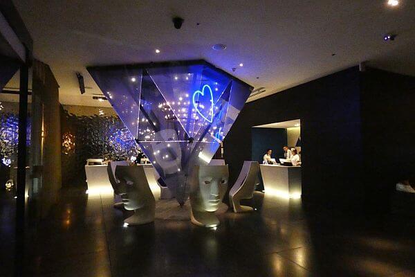 W Mexico City Hotel lobby at night