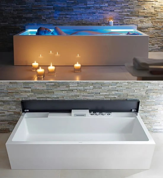Nahho Musical Bathtub By Duravit Helps To Float Your