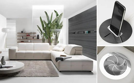 Surround By Natuzzi A Sofa Integrated With A Music System