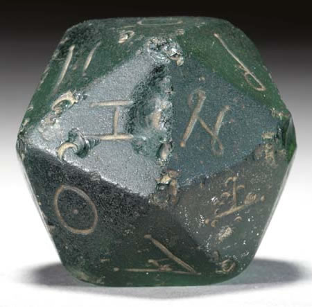 Ancient Roman Glass D20 Sold For 17 925